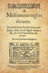 A midfommer nights dreame 1600